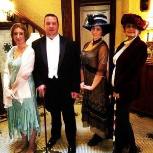 Members of the Historical Society portray Lady Edith, Bates, Lady Cora, and the Dowager Countess